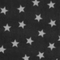 Photo of Black Stars fleece fabric