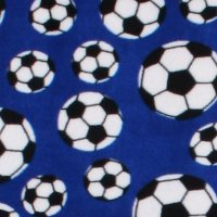 Blue Football Fabric
