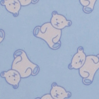 Photo of Blue teddy fleece fabric