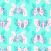 Photo of Butterfly fleece fabric