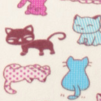 Photo of Calico cat fleece fabric