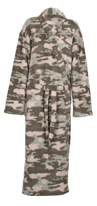 Camouflage Fleece Dressing Gown