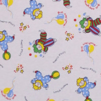 Photo of Clowns fleece fabric