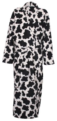 Photo of cow fleece dressing gown