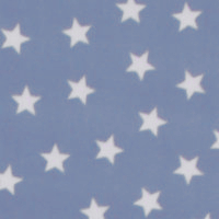 Photo of Light Blue Stars fleece fabric