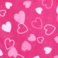 Photo of Hearts fleece fabric