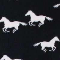 Photo of White Horse fleece fabric