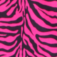 Photo of Lipstick Zebra fleece fabric