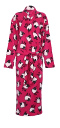 Photo of lipstick sheep fleece dressing gown