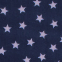 Photo of Navy Stars fleece fabric