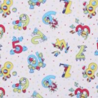 Photo of Numbers fleece fabric