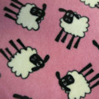 pink sheep fleece swatch