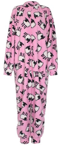 Photo of pink sheep Fleece Onesie and All-in-one