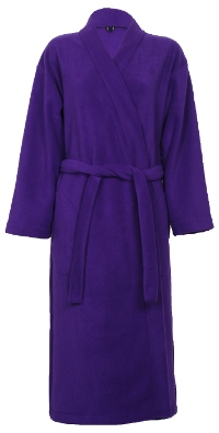 Photo of purple fleece dressing gown
