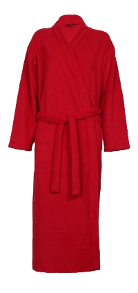 Photo of red fleece dressing gown