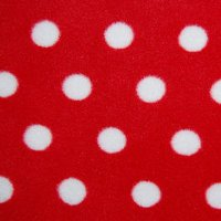 red polka fleece swatch