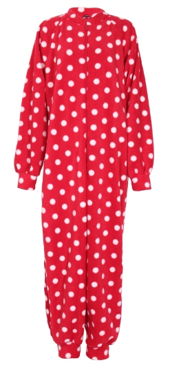Photo of red polka Fleece Onesie and All-in-one