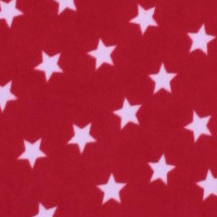 Photo of Red Stars fleece fabric