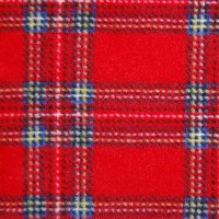 royal stewart tartan fleece swatch