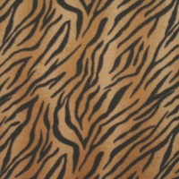 Photo of Tiger fleece fabric