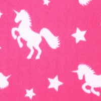 Photo of Pink Unicorn fleece fabric